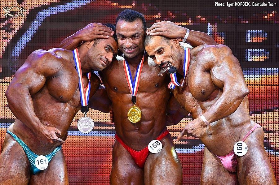 85 kg – 2  2017 IFBB World Bodybuilding Championships up to 85 kg category  medal winners (from L to R)  Hamed EINI (2nd place)  Haitham AL-ZADJALI (1st  ... 5d4874ae47