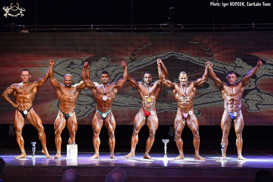 85 kg – 3  2017 IFBB World Bodybuilding Championships up to 85 kg category  finalists (from L to R)  Ott KIIVIKAS (6th place)  Alberto ALONSO (4th place)   ... d09517a59c