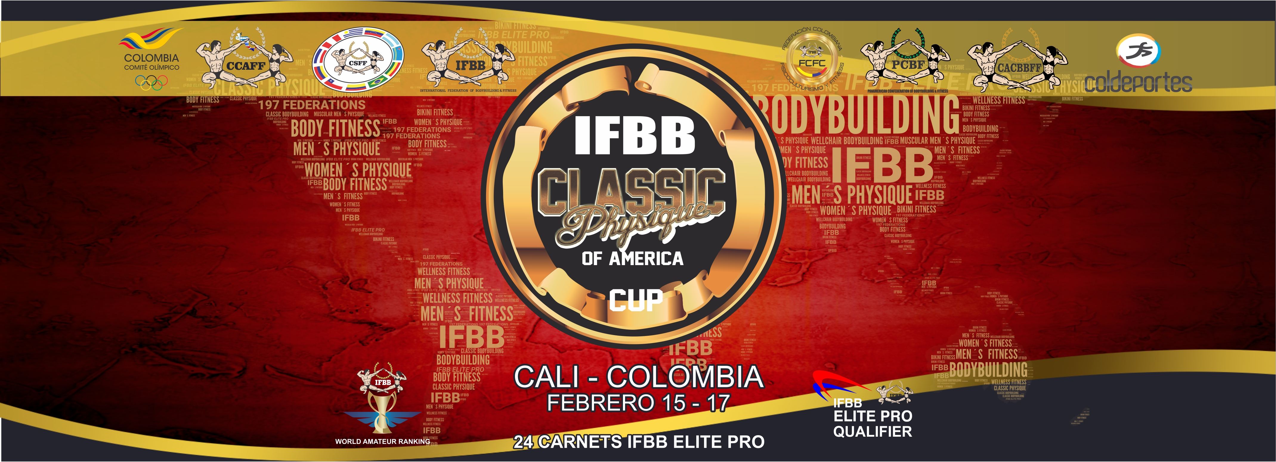 Classic Physique of America IFBB 2019 Abierto a Europeos